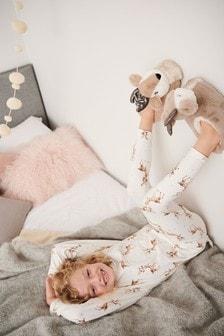 Pachet 1 pijamale model cerbi (3-16ani)