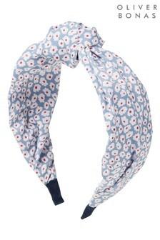 Oliver Bonas Blue Cornflower Ditsy Floral Print Knot Headband