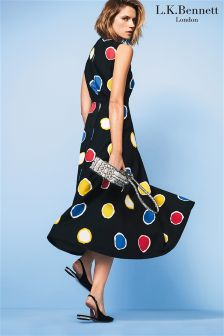L.K.Bennett Black Marlina Spot Print Dress