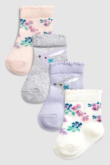Bunny Socks Four Pack (Younger)