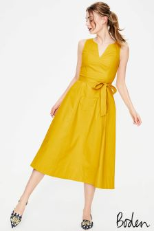 Boden Mimosa Yellow Joyce Dress