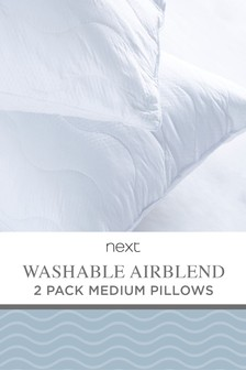 2 Pack Washable Airblend Pillows