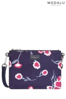 Modalu Navy Print Jessica Cross Body Bag