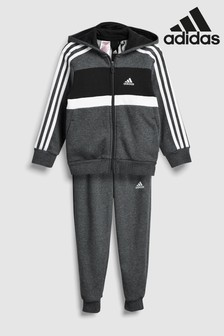 adidas Grey Cotton Blend Tracksuit