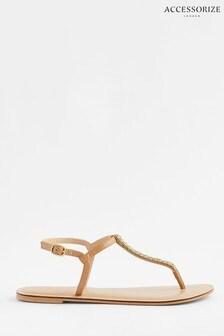 Accessorize Metallic Coloured Gem Sandals