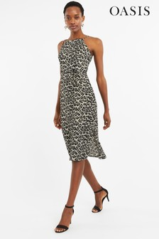47491cf6330 Oasis Animal Square Neck Dress
