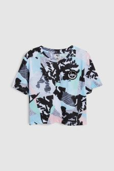 Hype. Blue Camo Crop Top