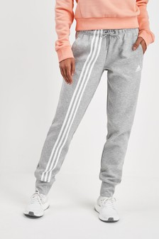 adidas Must Have Light Grey 3 Stripe Joggers