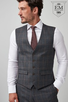 Tailored Fit Signature Check Suit: Waistcoat