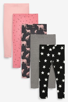 Pack de 5 leggings (3-16 años)