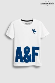 Abercrombie & Fitch White Graphic T-Shirt