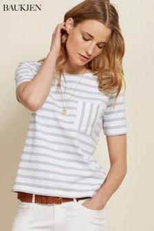 Baukjen Emma T-Shirt mit Streifen, Blau