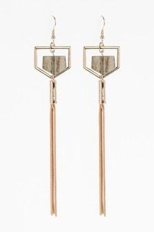 Resin Tassel Drop Earrings