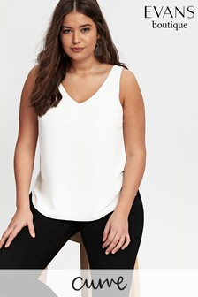 Evans Curve Ivory Double Layer Cami