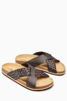 Weave Cross Strap Sandal