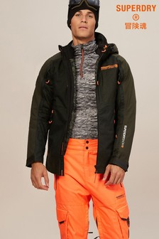 Superdry Green Piste Rescue Ski Jacket