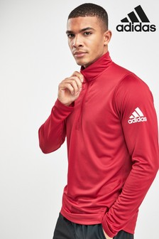 adidas Spirit Maroon 1/4 Zip Top