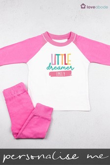 Personalised Little Dreamer Pyjamas by Loveabode