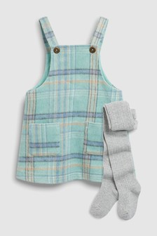 Check Pinafore Set (3mths-6yrs)