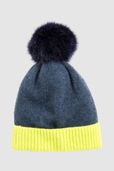 Cashmere Mix Pom Hat