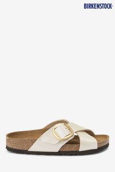 Birkenstock® White Sien Buckle Sandals