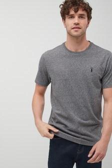 Schweres T-Shirt mit Logo