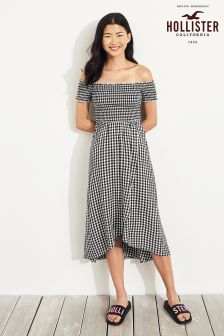 Hollister Gingham Midi Dress
