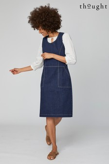 Thought Blue Koco Pinafore Dress