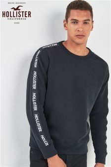 Hollister Black Tiger Crew Neck Sweater