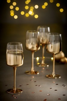 Bexley Metallic Set of 4 Wine Glasses