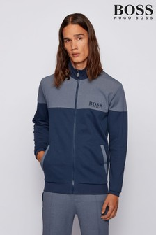 BOSS 2-Tone Zip Thru Tracksuit Jacket