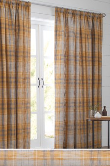 Astley Check Pencil Pleat Curtains