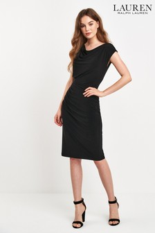 Lauren Ralph Lauren® Black Drape Theona Dress