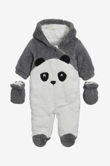 Комбинезон с дизайном панды
