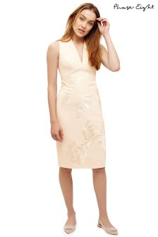 Phase Eight Oyster Ruby Embroidered Dress