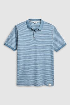 Dip Dyed Stripe Polo