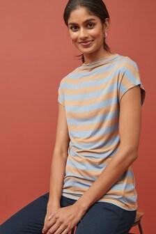 Cowl Neck Boxy T-Shirt