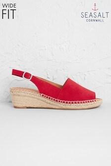 Seasalt Red Syllan Espadrille Wide Fit