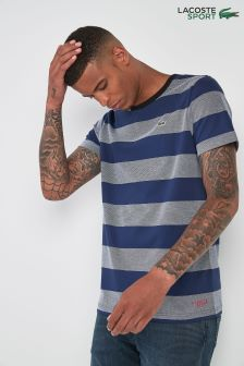 Lacoste® Sport Blue Stripe T-Shirt
