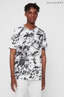 AllSaints White Palm Print Seabreeze T-Shirt
