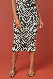 Zebra Pencil Skirt