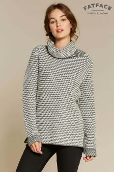 FatFace Natural Phoebe Roll Neck Jumper