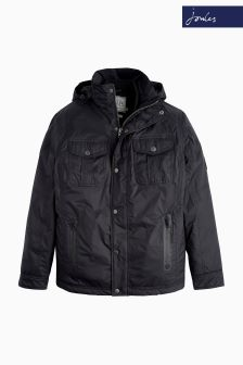 Joules Black Tracker Waterproof Biker Jacket
