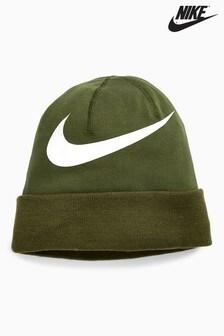 Шапка цвета хаки Nike Swoosh