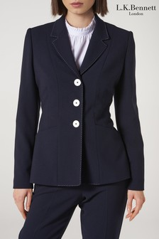 L.K.Bennett Blue Dannie Jacket