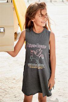 Unicorn Fringed Dress (3-16yrs)