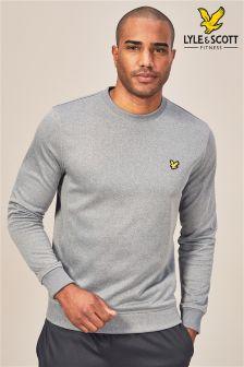 Lyle & Scott Sport Grey Braid Crew Sweater