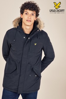 Lyle & Scott Faux Fur Hooded Parka