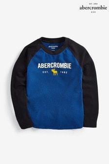 Abercrombie & Fitch Navy Long Sleeve Raglan T-Shirt