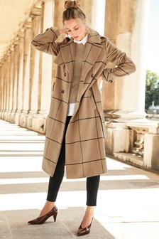 Windowpane Check Coat